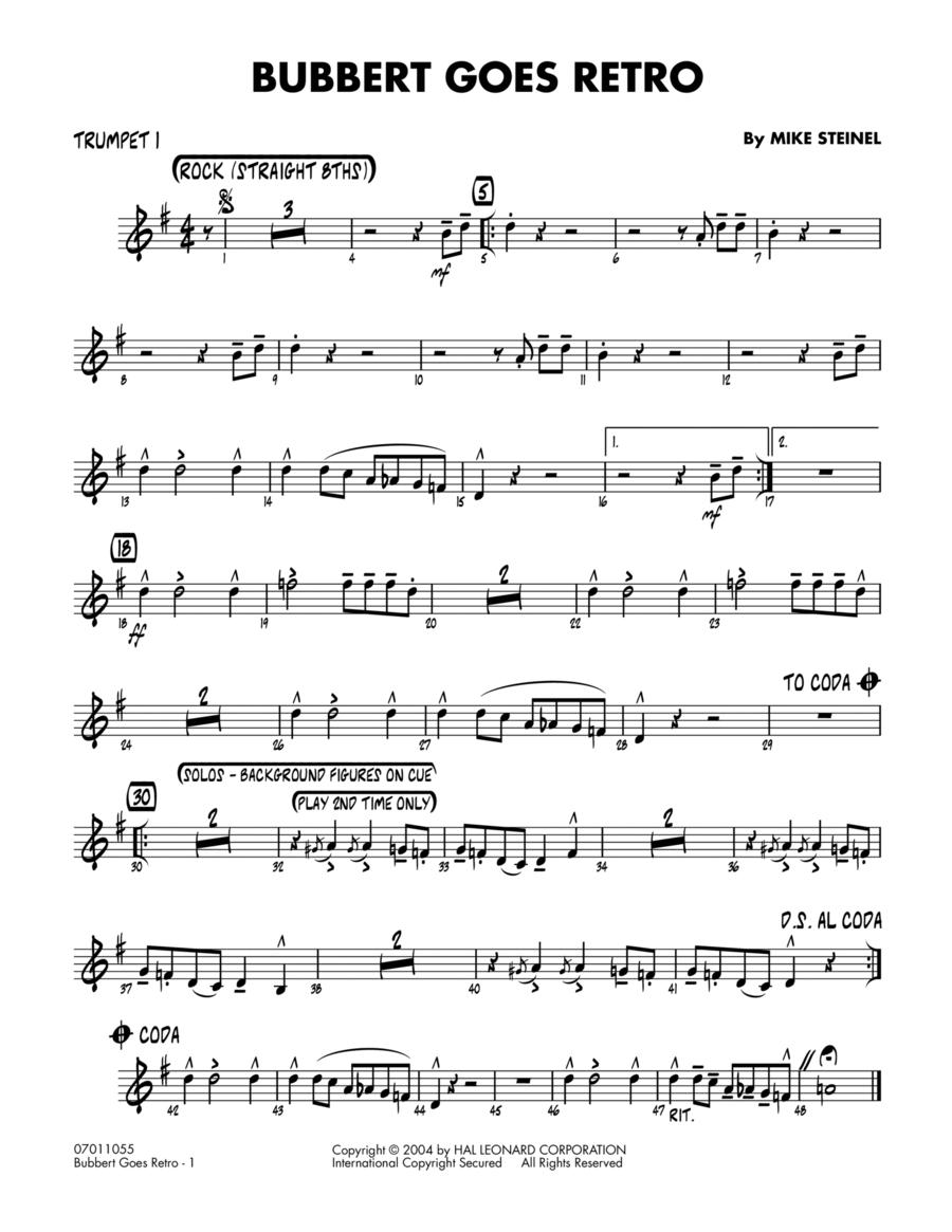 Bubbert Goes Retro - Trumpet 1