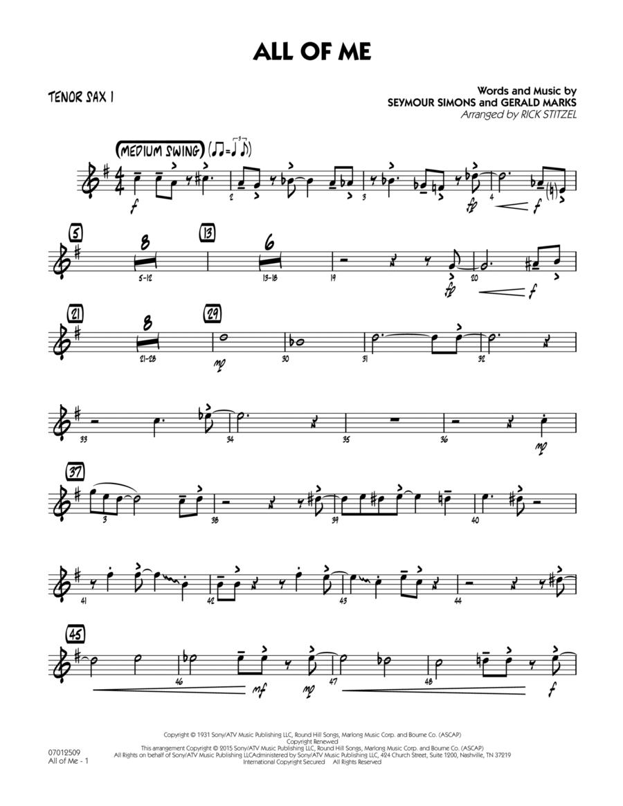 All of Me (Key: F) - Tenor Sax 1