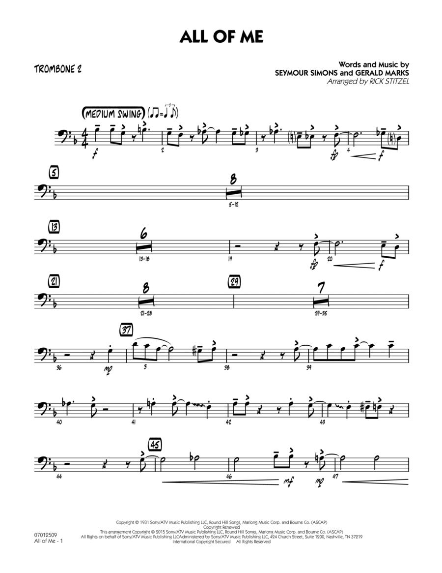All of Me (Key: F) - Trombone 2