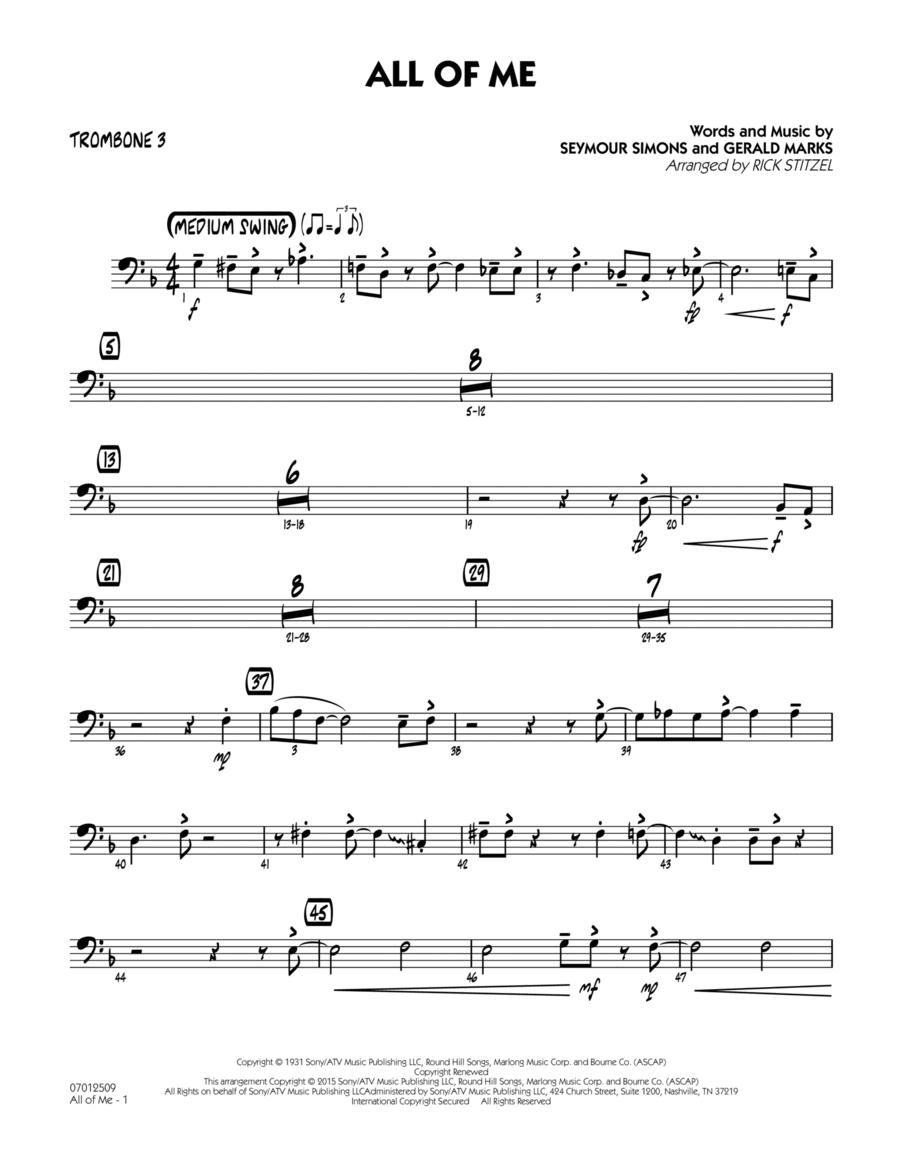 All of Me (Key: F) - Trombone 3
