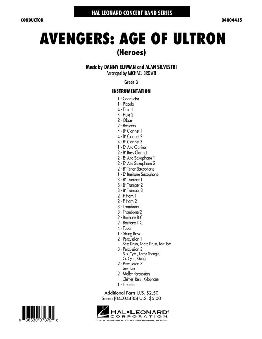Avengers: The Age of Ultron (Main Theme) - Conductor Score (Full Score)