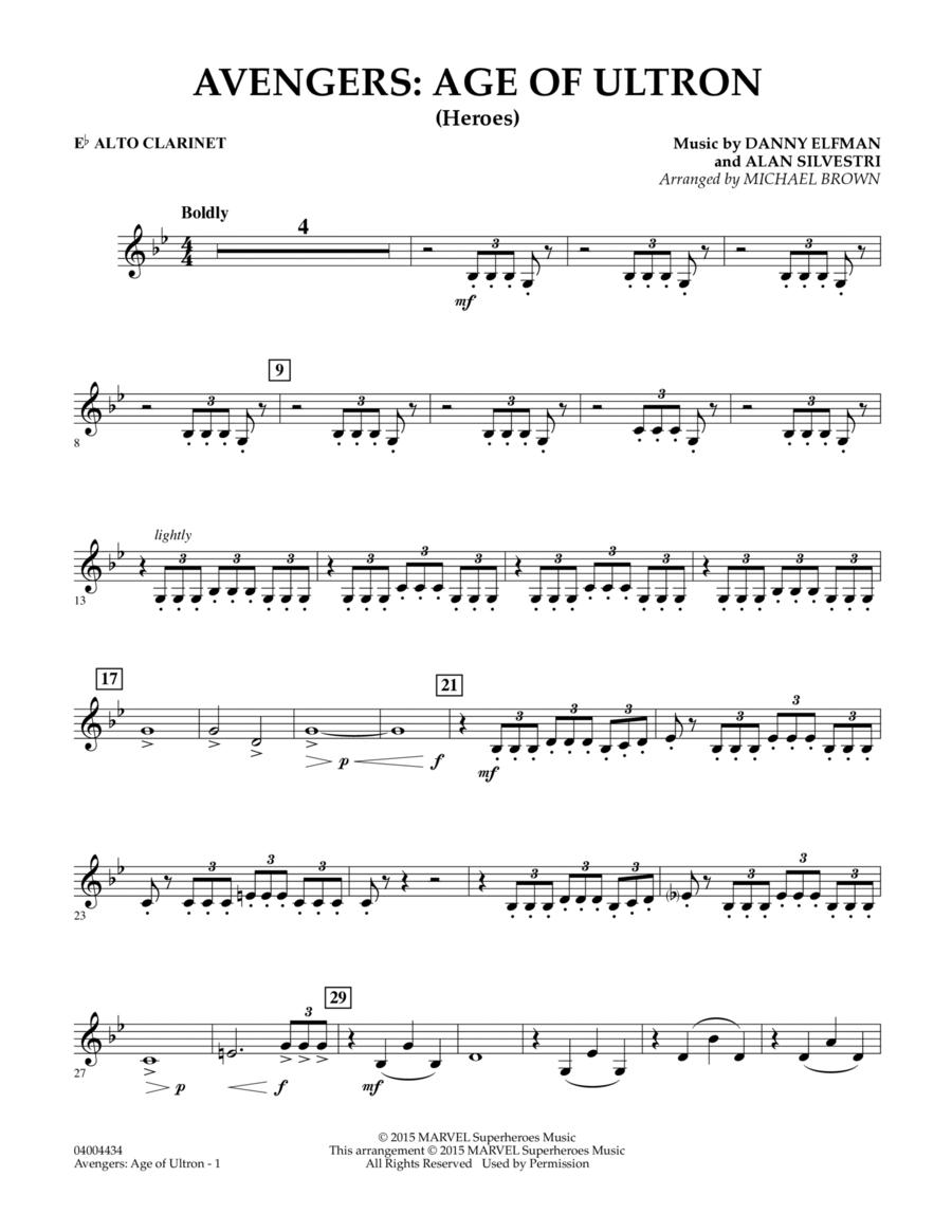 Avengers: The Age of Ultron (Main Theme) - Eb Alto Clarinet