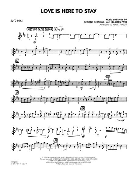 Love Is Here to Stay - Alto Sax 1
