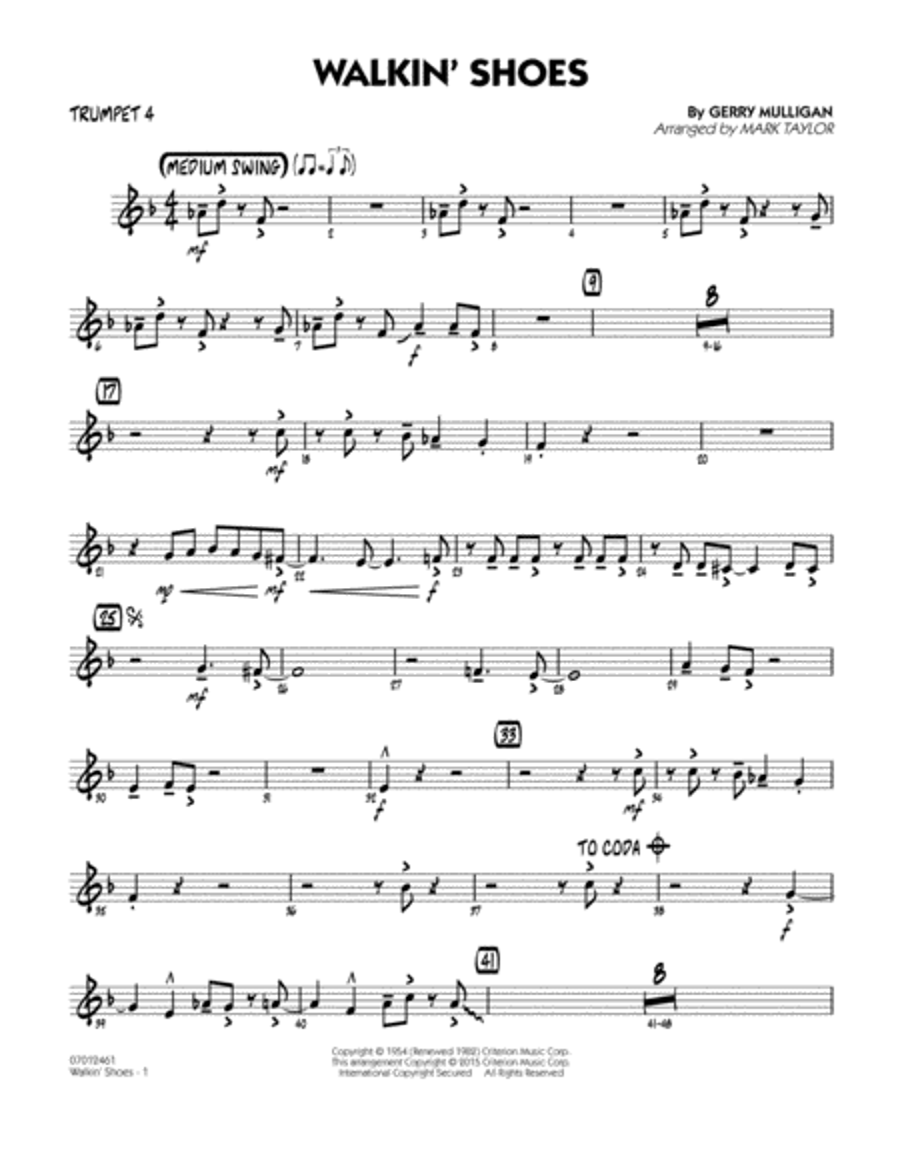 Walkin' Shoes - Trumpet 4
