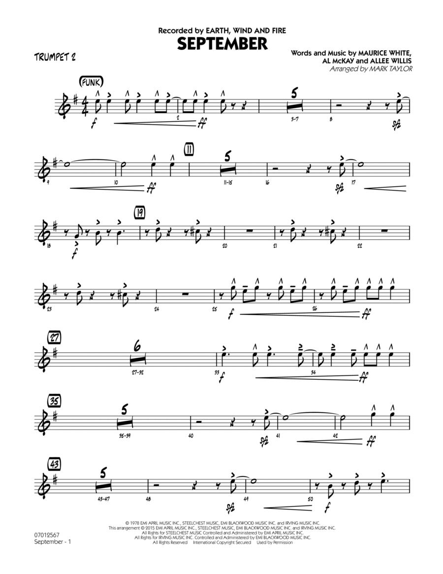 September (Key: C) - Trumpet 2
