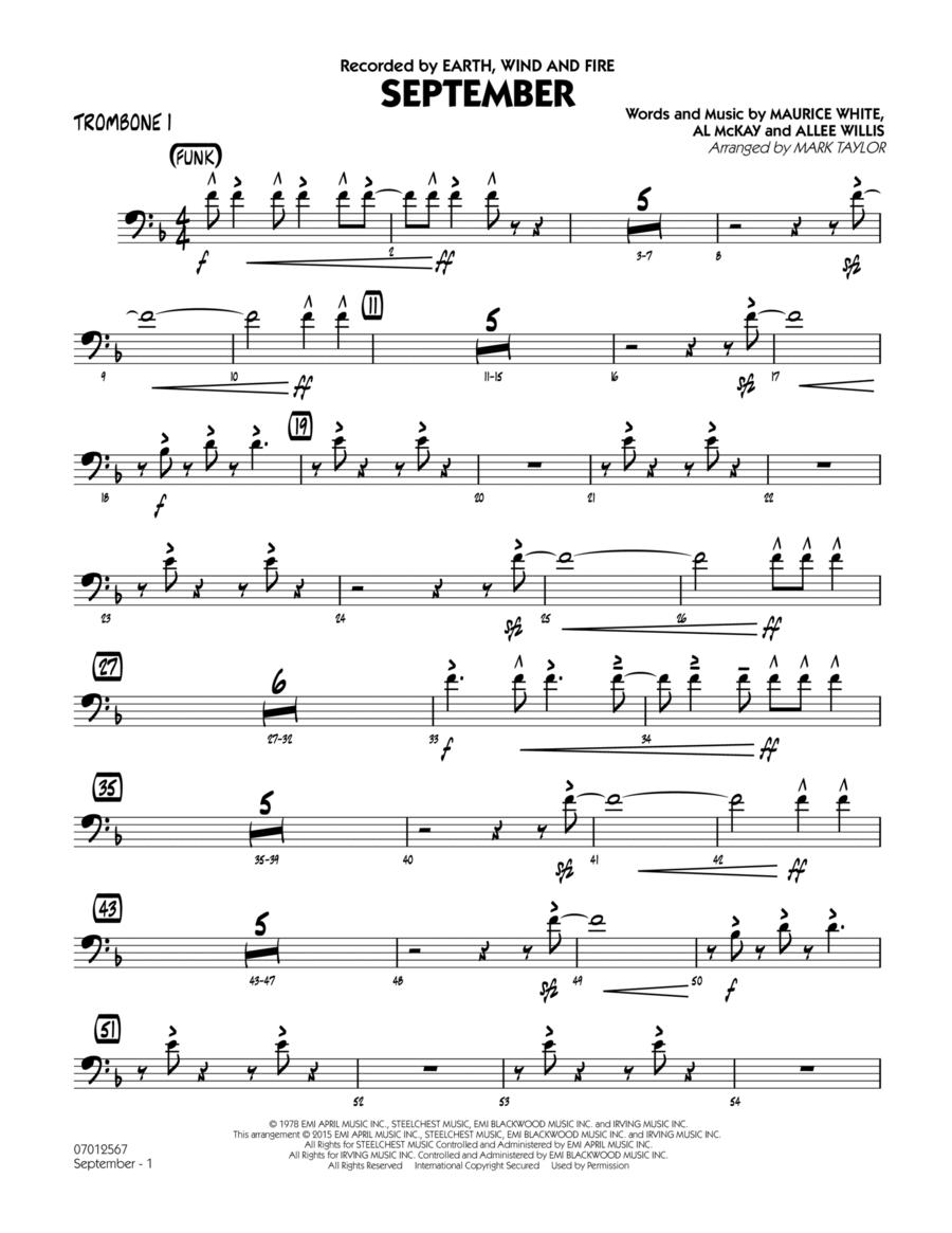 September (Key: C) - Trombone 1