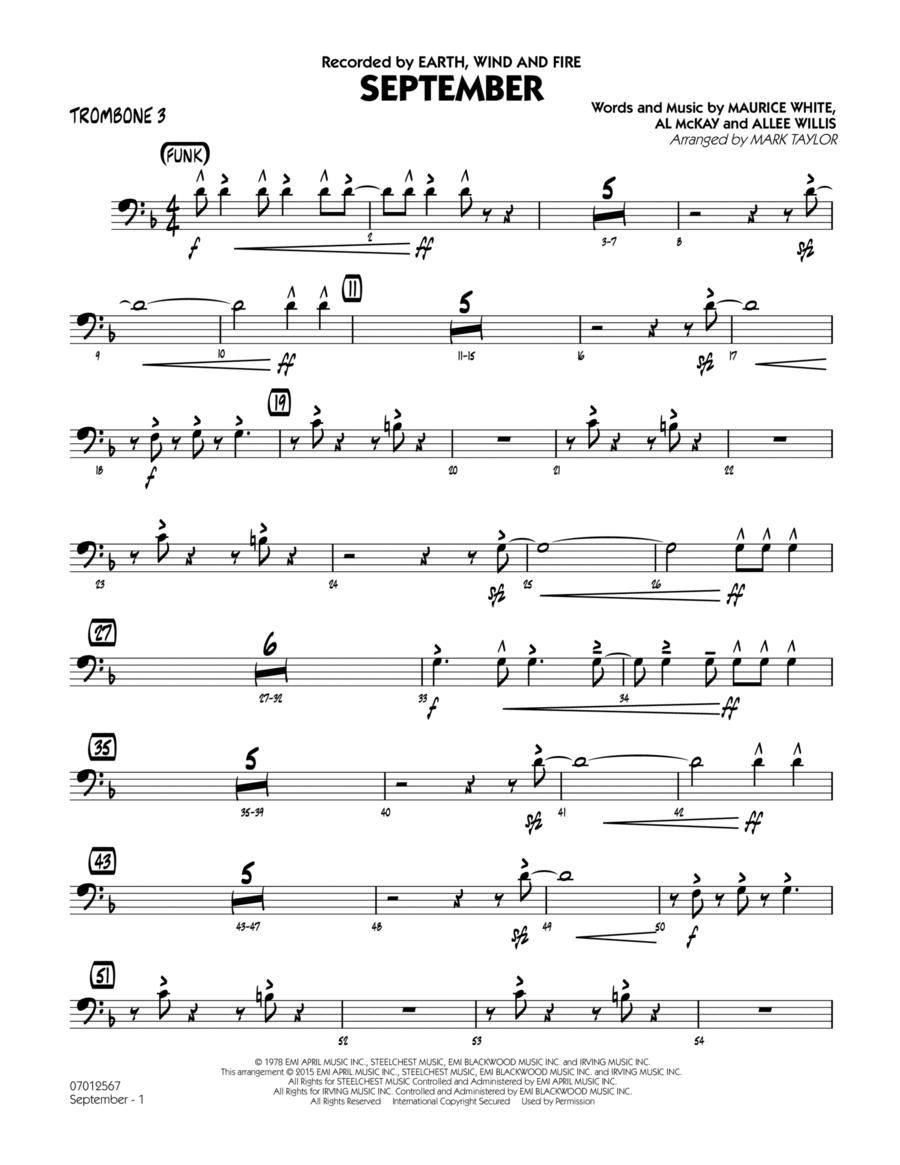 September (Key: C) - Trombone 3