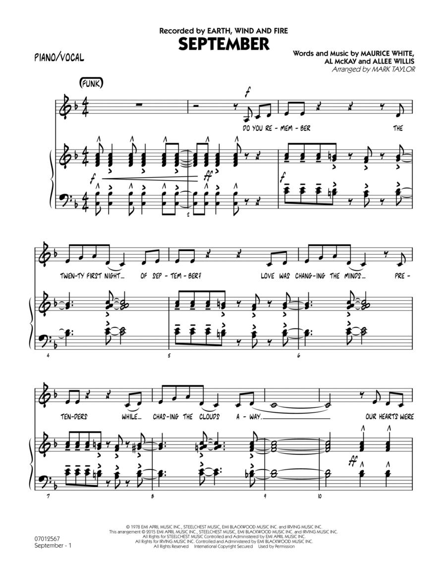 September (Key: C) - Piano/Vocal