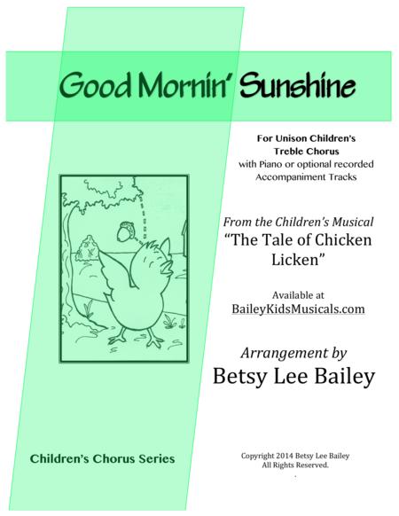 Good Mornin' Sunshine for Unison or 2-Part Children's Chorus