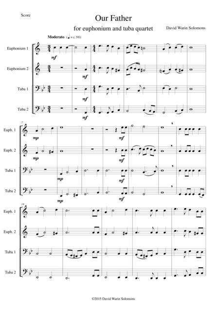 Our Father for tuba and euphonium quartet