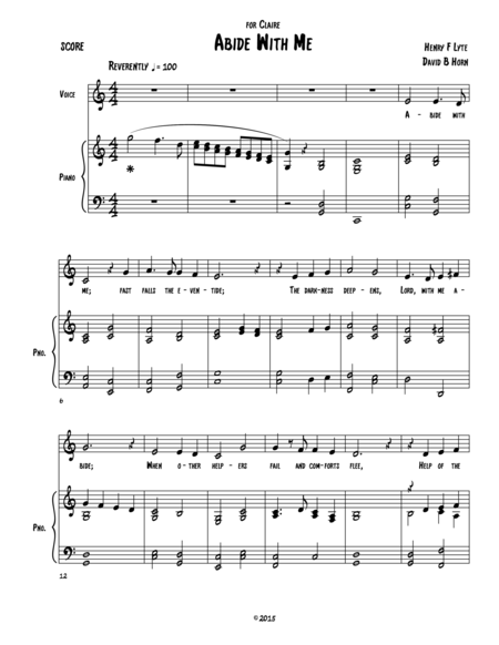 Abide With Me (medium voice version)