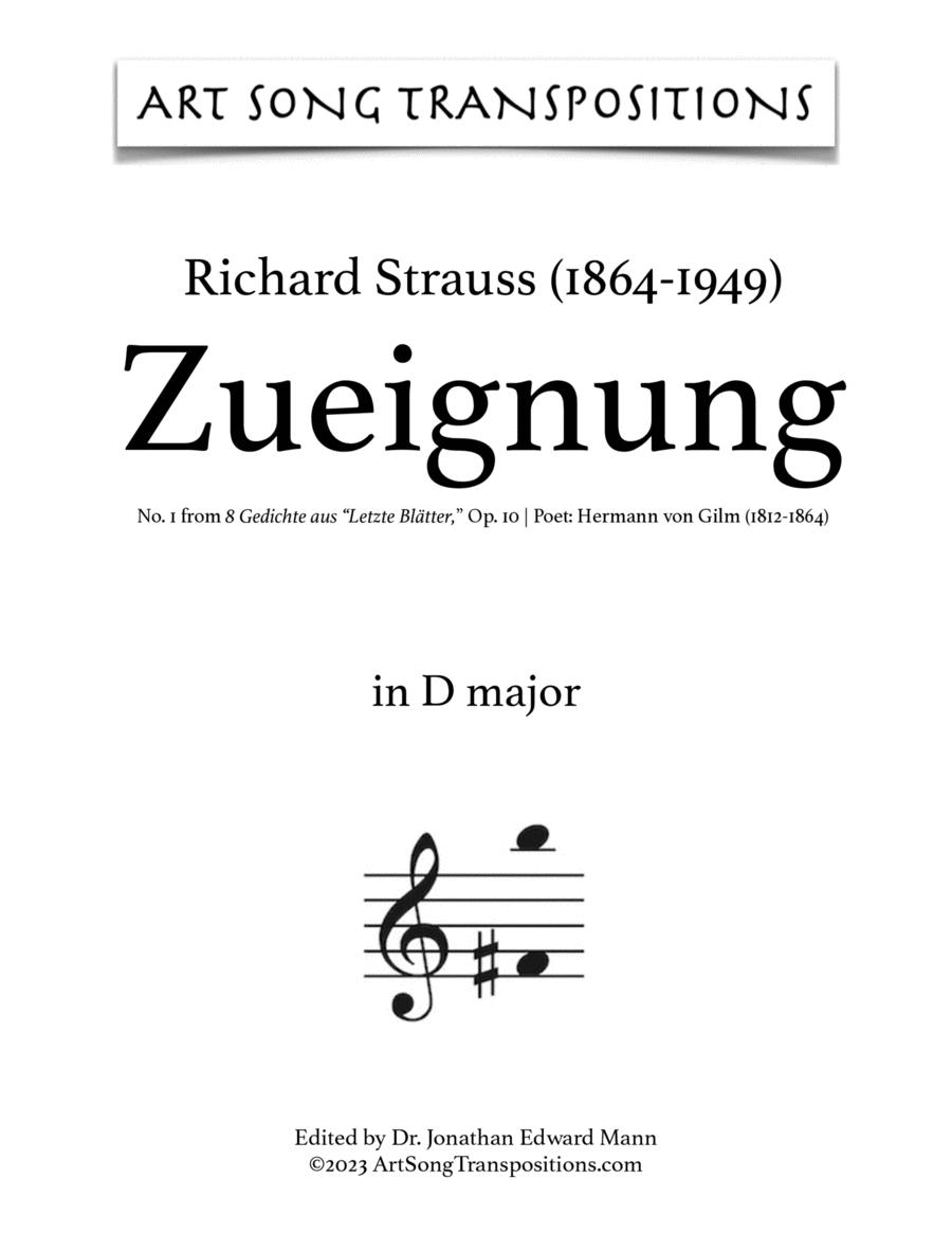 Zueignung, Op. 10 no. 1 (E major)