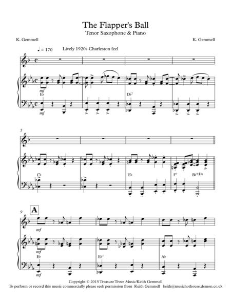The Flapper's Ball (1920's-style): Tenor Sax & Piano