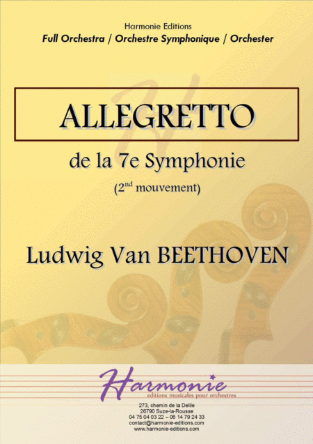 Allegretto (second movement) from the symphony n°7 - Ludwig Van BEETHOVEN