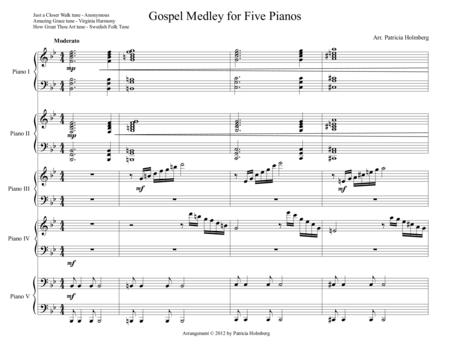 Gospel Trilogy for 5 pianos