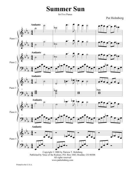 Summer Sun (for five piano ensemble)