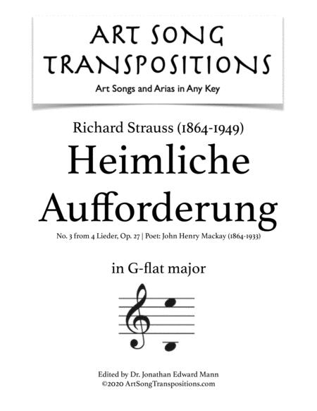 Heimliche Aufforderung, Op. 27 no. 3 (G-flat major)