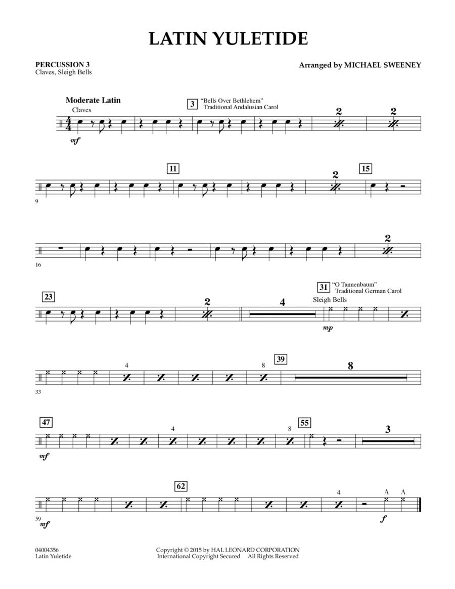 Latin Yuletide - Percussion 3