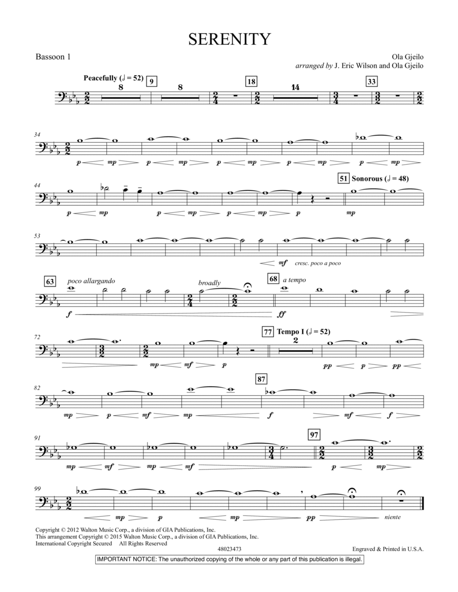 Serenity - Bassoon 1
