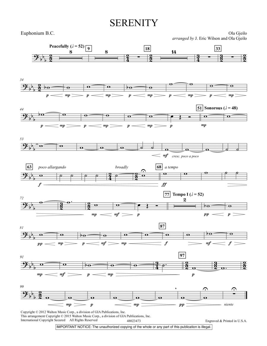 Serenity - Euphonium B.C.