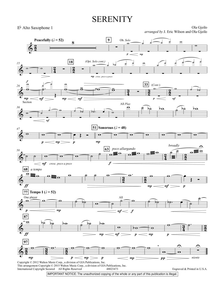 Serenity - Eb Alto Saxophone 1