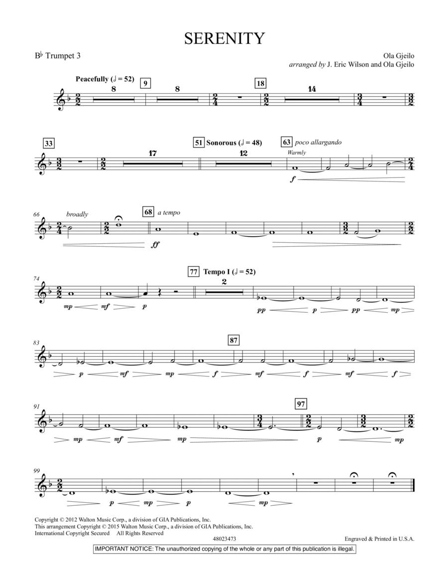Serenity - Bb Trumpet 3