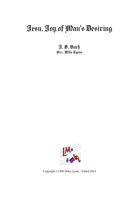 Jesu Joy Of Man's Desiring (Brass band)