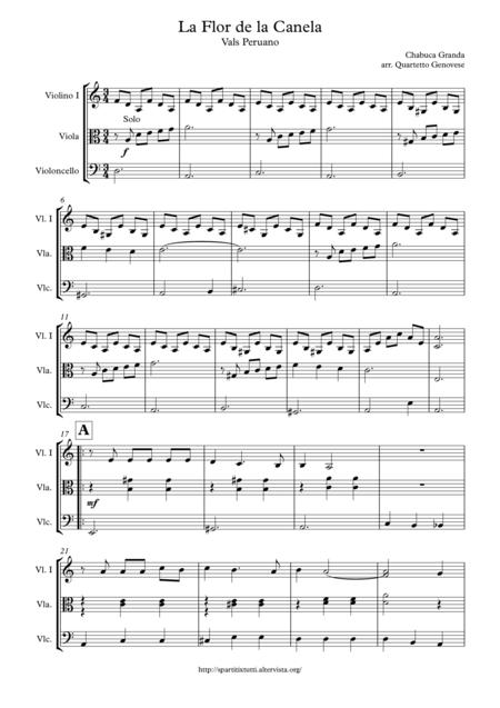 Download La Flor De La Canela Sheet Music By Chabuca Granda ...