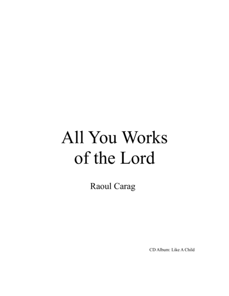 All You Works of the Lord