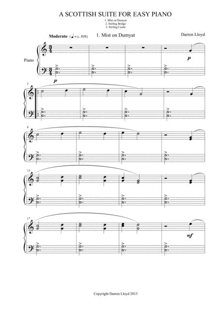 Scottish Suite - For Easy Piano