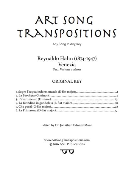 Venezia (Original key)