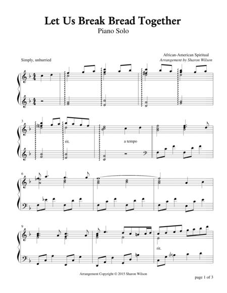 Let Us Break Bread Together (Piano Solo)