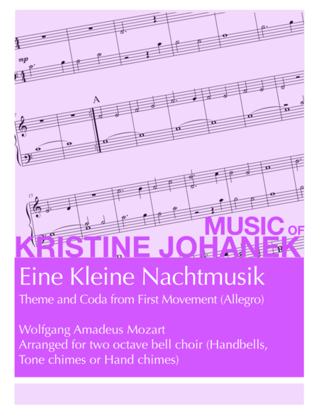 Eine Kleine Nachtmusik (Theme and Coda from First Movement -Allegro) (2 Octave Handbell, Hand Chimes or Tone Chimes)