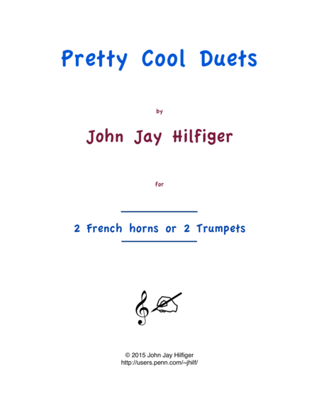 Pretty Cool Duets for French horns or Trumpets