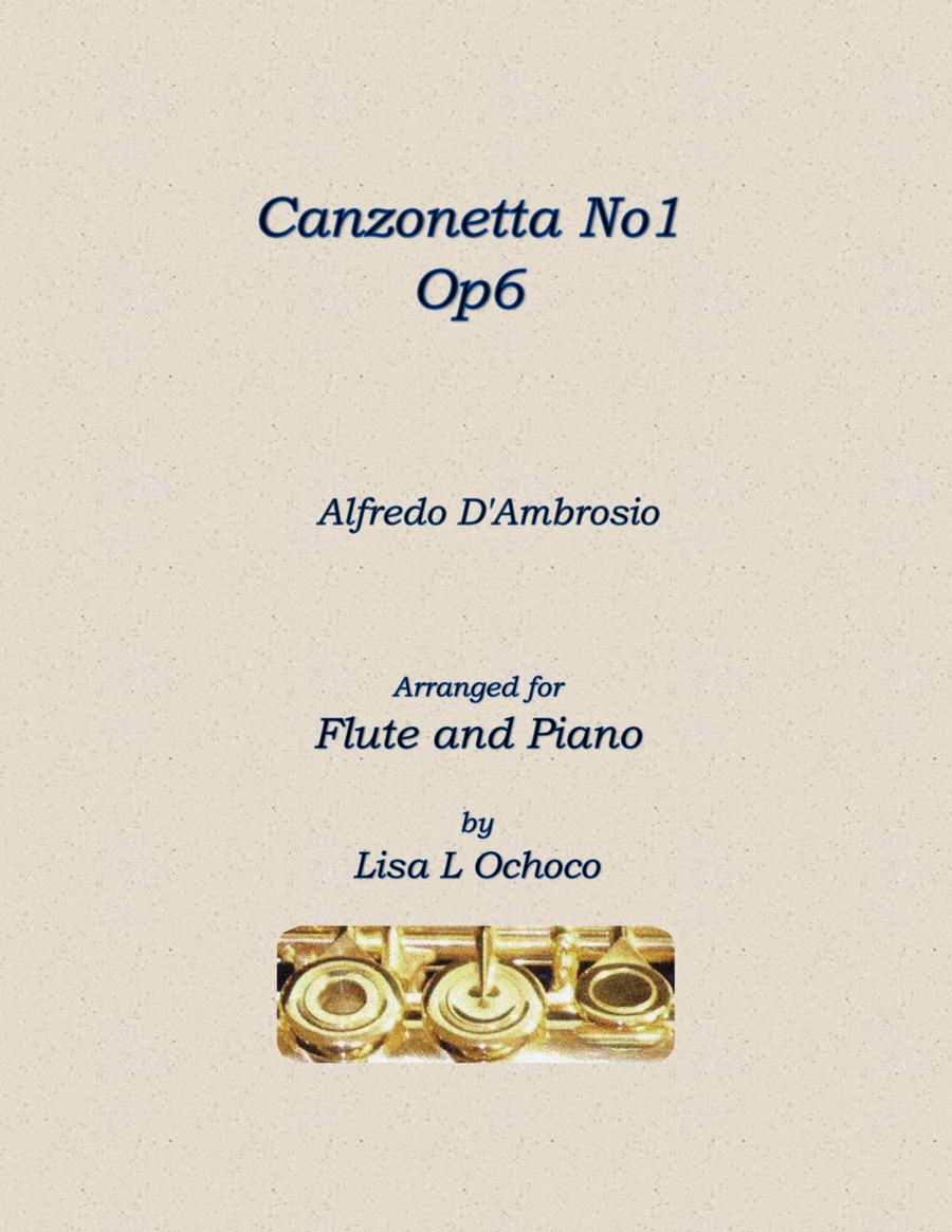 Canzonetta No 1, Op6 for Flute and piano