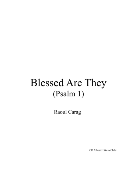 Blessed Are They (Psalm 1)