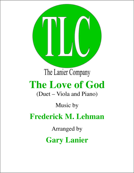 THE LOVE OF GOD (Duet – Viola and Piano/Score and Parts)