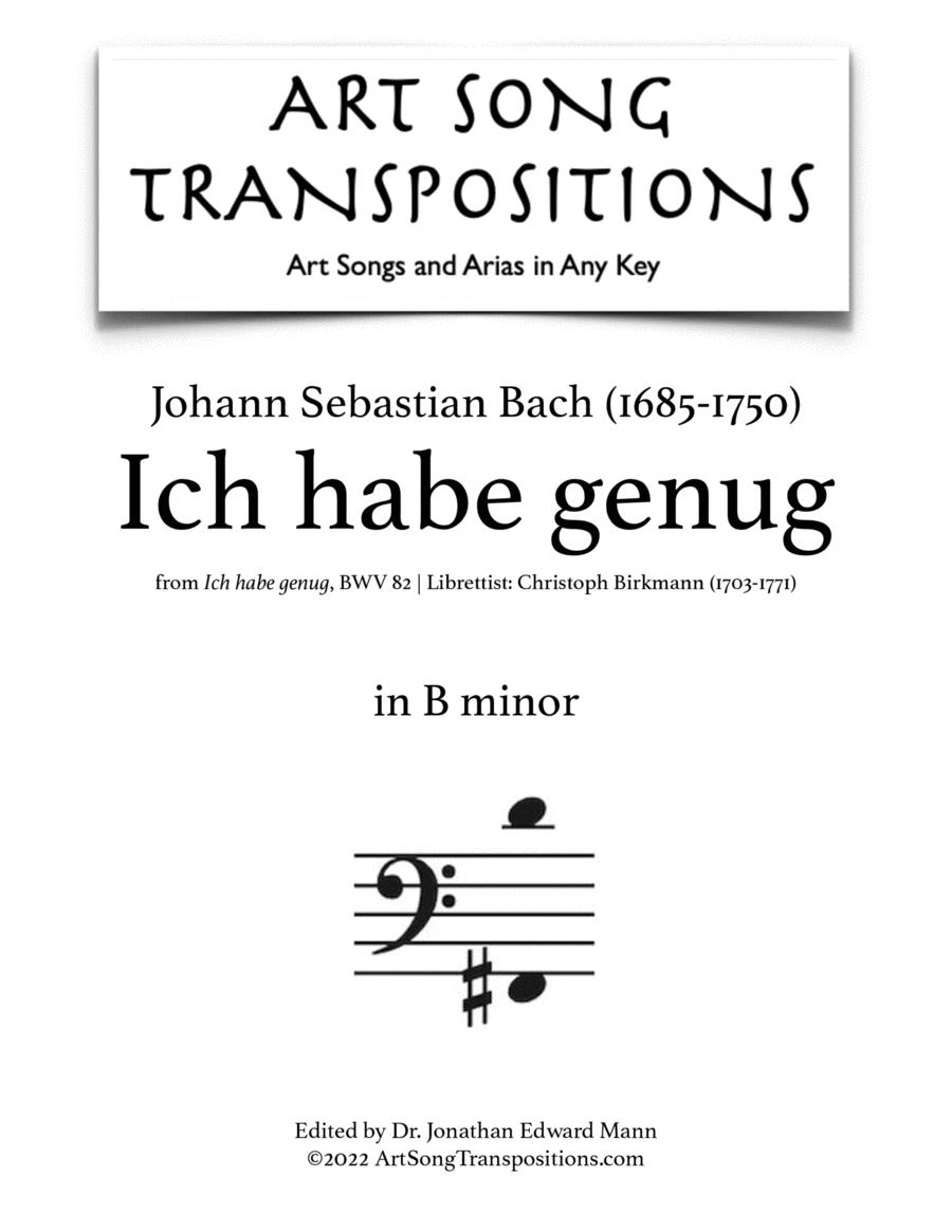 Ich habe genug, BWV 82 (B minor)