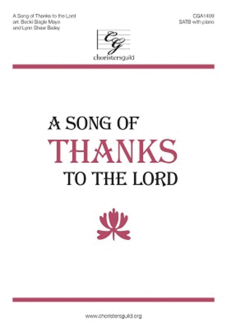 A Song of Thanks to the Lord