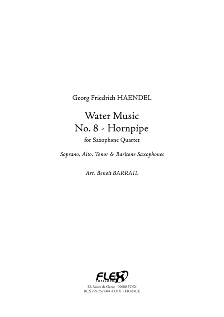 Water Music - No. 8 - Hornpipe