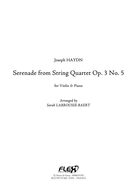 Serenade from String Quartet Op. 3 No. 5