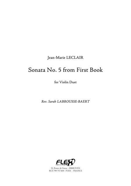 Sonata No. 5 from First Book