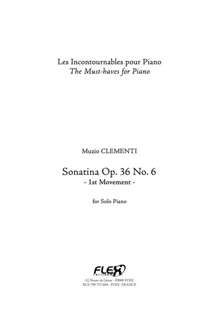 Sonatina Op. 36 No. 6 - 1st Mvt