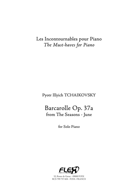 Barcarolle Op. 37a