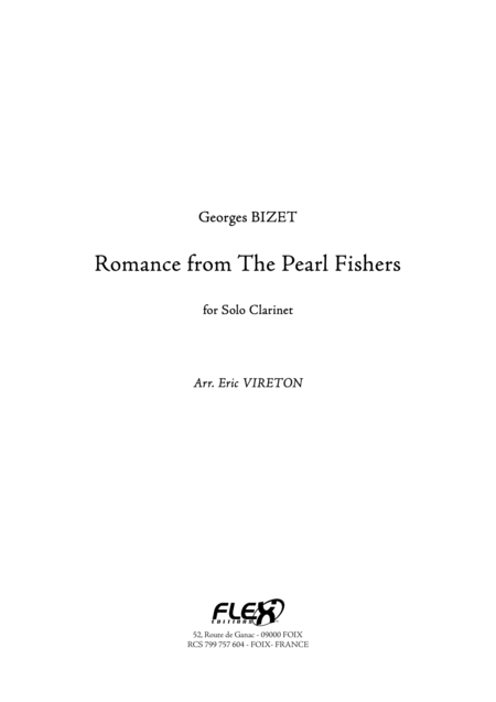 Romance from The Pearl Fishers
