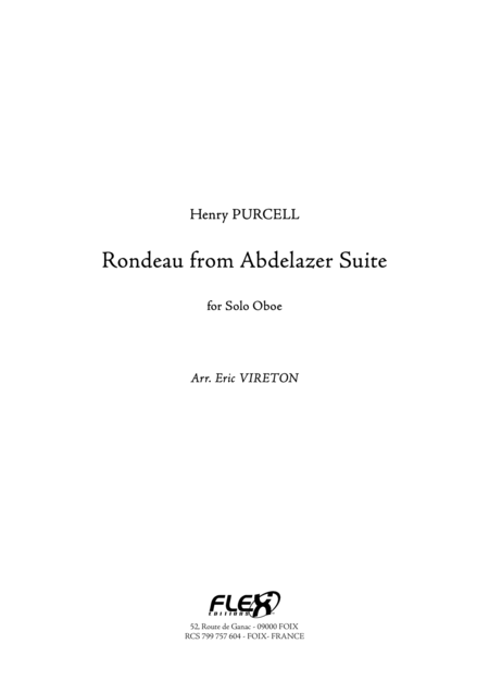 Rondeau from Abdelazer Suite