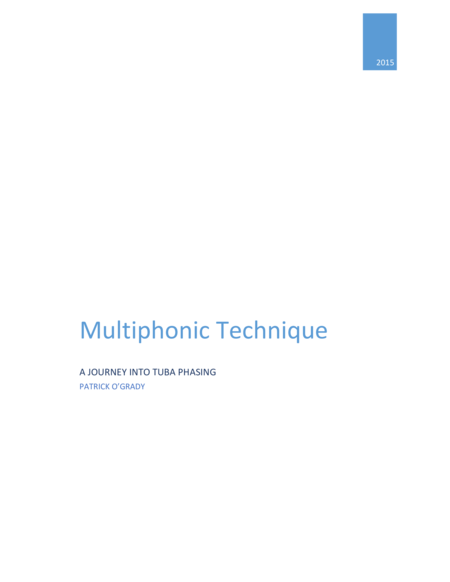 Multiphonics for Tuba