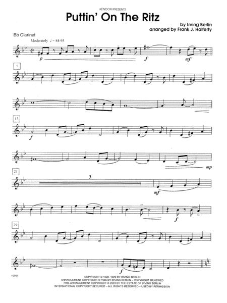 Puttin' on the Ritz - Bb Clarinet