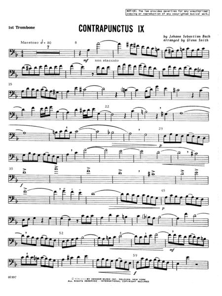 Contrapunctus IX - 1st Trombone