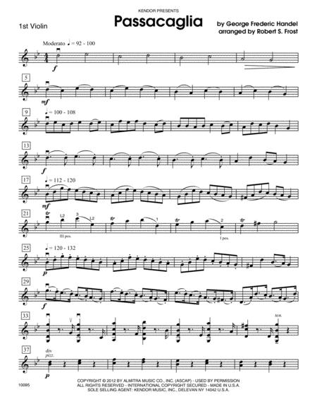 Passacaglia - Violin 1